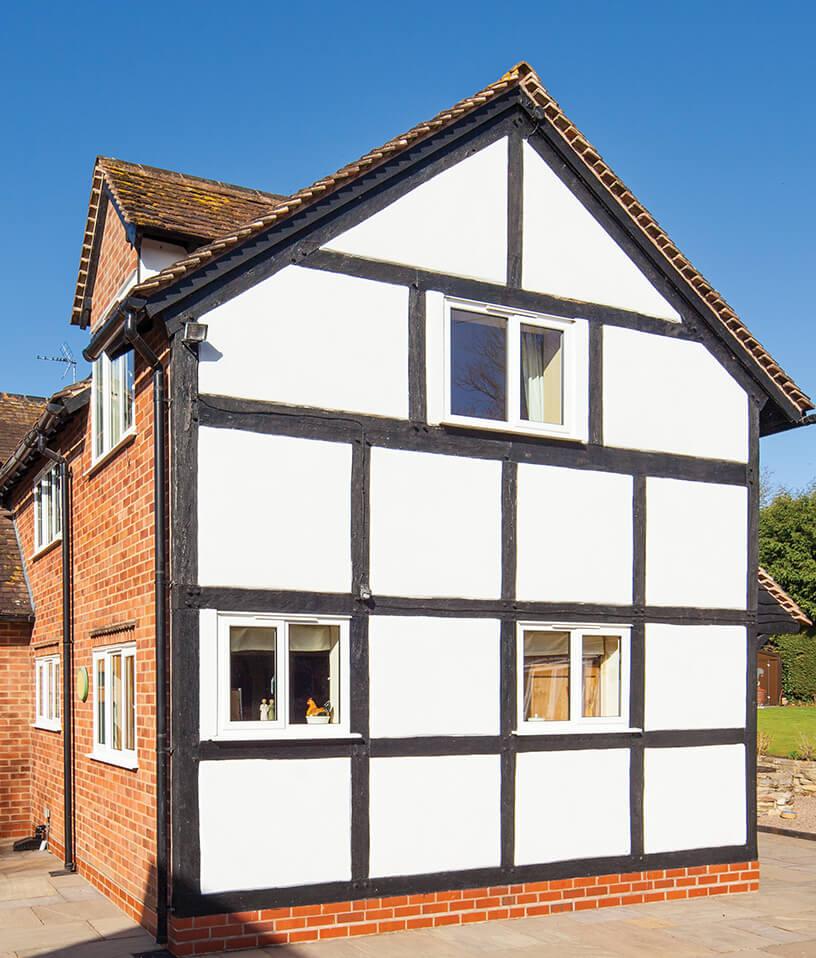 White heritage casement aluminium windows