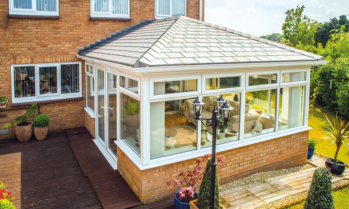 Tiled roof Edwardian uPVC conservatory