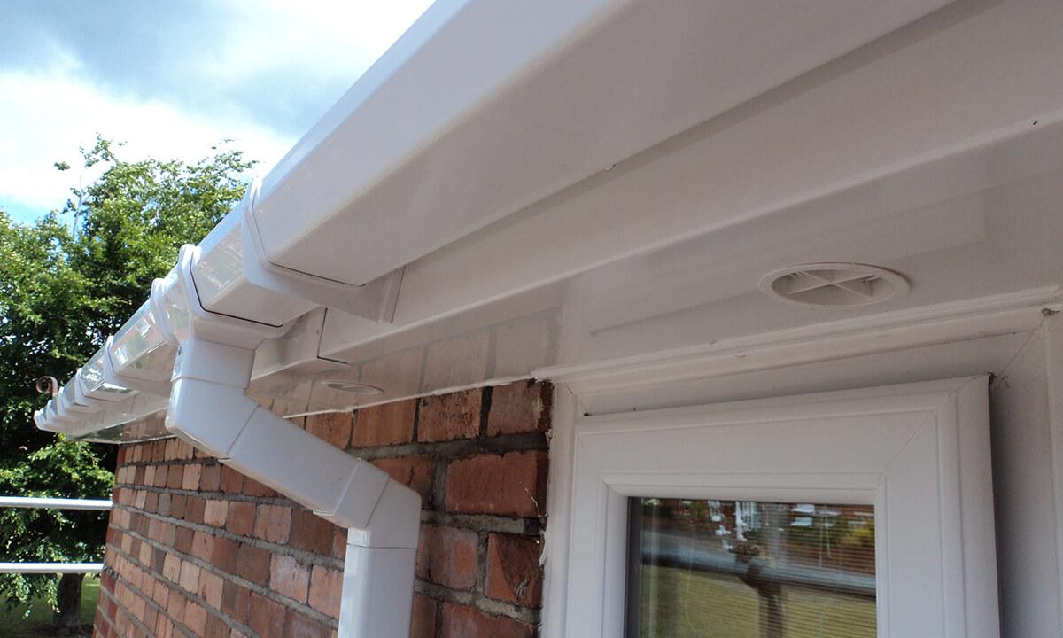 White uPVC roofline and guttering