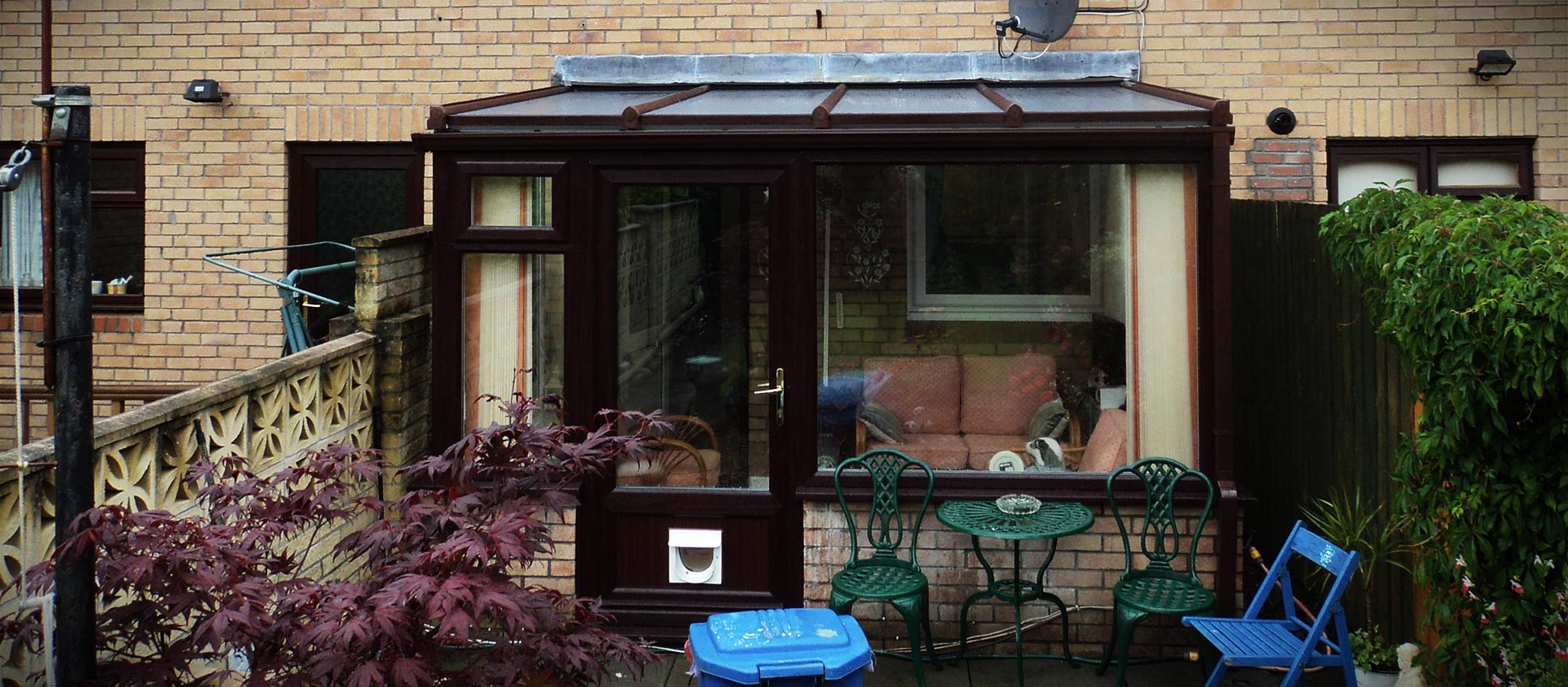 Rosewood uPVC lean to conservatory installation