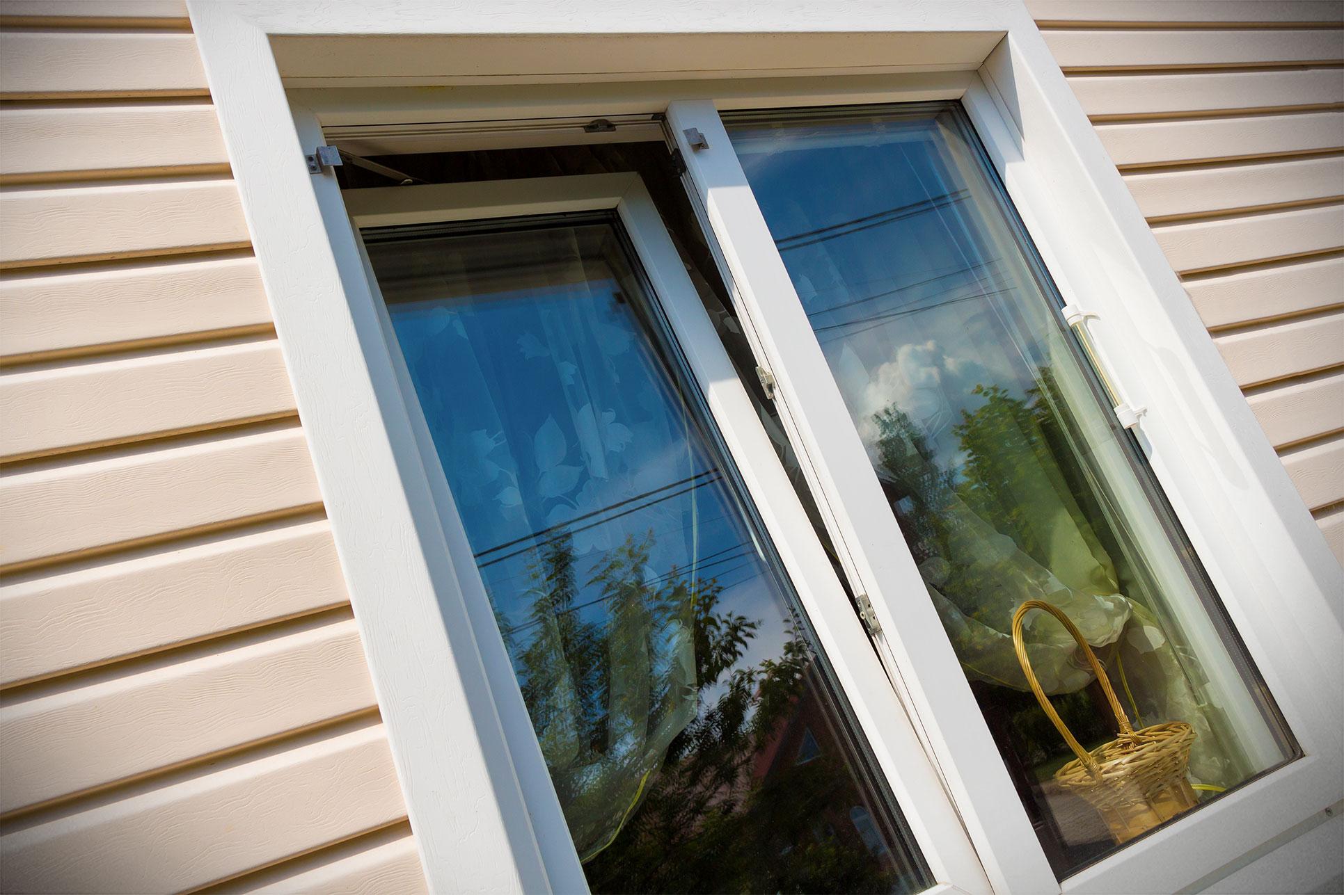 White uPVC tilt and turn window